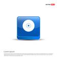 computer disk icon - 3d blue button vector image