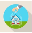 Concept for saving property vector image vector image