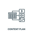content plan outline icon thin line concept vector image vector image