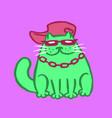 cut rapper cat vector image