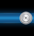 cyber security keyhole lock circle vector image vector image