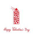 Deodorant spray with hearts inside Happy Valentine vector image vector image