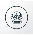 flower basket icon line symbol premium quality vector image