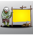 Frame halloween Ghost and yellow frame vector image vector image