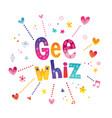 gee whiz vector image