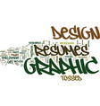 graphic design resumes text background word cloud vector image vector image
