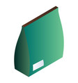green blank package icon isometric style vector image vector image