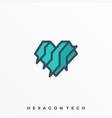 hexagon design template vector image