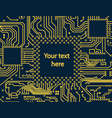 high tech electronic circuit board vector image