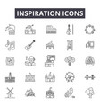 inspiration line icons signs set linear vector image
