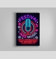 jazz music festival design template typography in vector image