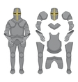 Knight armor Color vector image