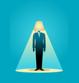 lamp head businessman vector image