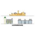 luxembourg flat landmarks vector image vector image