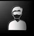 man with sleeping mask sign gray 3d vector image vector image