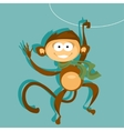 Monkey symbol 2016 vector image vector image