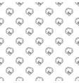 natural broccoli pattern seamless vector image