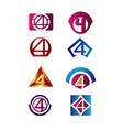 Number 4 logo icon design template elements vector image vector image