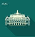opera garnier paris france flat icon vector image vector image