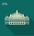 opera garnier paris france flat icon with vector image vector image