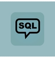 Pale blue SQL message icon vector image vector image