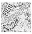 professional graphic design Word Cloud Concept vector image vector image