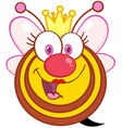 Queen Bee Cartoon Mascot Character vector image vector image