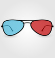 Realistic 3d anaglyph glasses vector image vector image