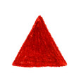 red crayon scribble texture stain triangle shape vector image vector image