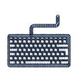 scribble keyboard cartoon vector image