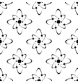 Seamless pattern of molecules vector image