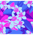 seamless ultraviolet hawaiian tropical pattern vector image vector image