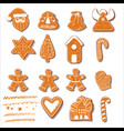 set of christmas cookies set of different vector image