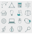 Set of icons education and e-learning vector image