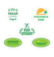 set of labels company vegan vegetarian healthy vector image