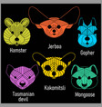 Set of polygonal head animals polygonal logos