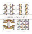 set of seamless patterns like paper scrolls vector image vector image