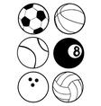 Set of sports balls vector image vector image