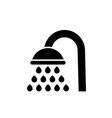 shower icon filled flat shower symbol vector image
