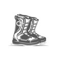 snowboard boots isolated on white background vector image vector image