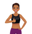 sport woman showing thumb up vector image vector image