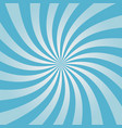 swirling blue sunburst pattern vector image vector image