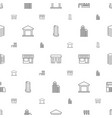town icons pattern seamless white background vector image vector image