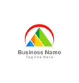 triangle pyramid colorful company business logo vector image vector image
