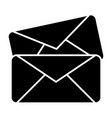 two envelope solid icon letters vector image vector image