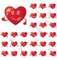 valentine hearts smileys set vector image vector image