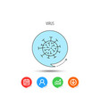 virus icon molecular cell sign vector image vector image