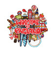 welcome to england with london vector image