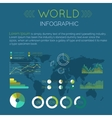 Word Infographic Flat Design vector image vector image