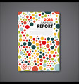modern annual report design template vector image